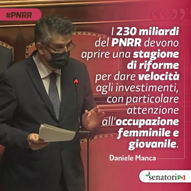 Il PNRR sia il motore per una nuova economia sociale